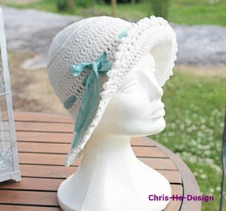 Klassisk hatt naturhvit http://chris-ho.com/tilbehor.html
