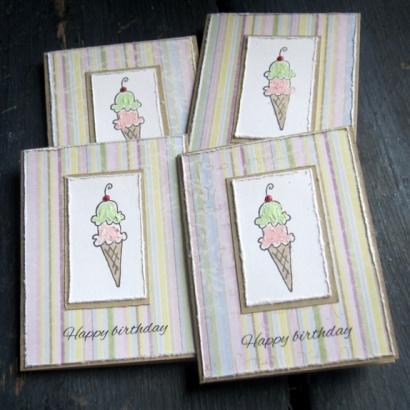 Cireline Design: Iskrem - 4 små kort http://epla.no/handlaget/produkter/793699/