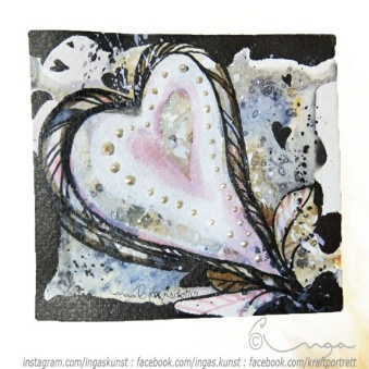 Hjerte - Original akvarell http://epla.no/handlaget/produkter/766659/