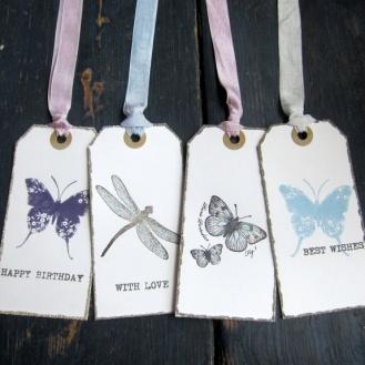 Cirkeline Design Butterflies - 4 store gavelapper http://epla.no/handlaget/produkter/792748/