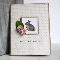 Cirkeline Design: Helene Harefrøken - kort. Dette er et dobbelt kort i A6-format . http://epla.no/handlaget/produkter/791513/