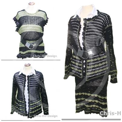 Chris-Ho-Design: Miks og match! Topp, jakke og skjørt i mose og svart. Str. 36 - 42. One size. http://chris-ho.com/topp,-jakke-og-skjort-i-mose-og-svart---miks-og-match.-str.-36---42.-one-size..html