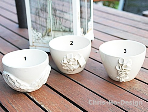 Chris-Ho-Design Keramiske skåler/hankløse kopper/lyslykter/potteskjulere laget for hånd i tre forskjellige dekorer. http://chris-ho.com/skal-kopp-u-hank---3-varianter..html