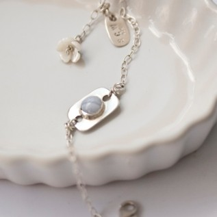 Sølvarmbånd http://sarajewellery.no/?product=blonde-agate-silver-bracelet