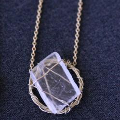 Sara Jewellery: Wrapped quartz necklace http://sarajewellery.no/?product=wrapped-quartz-necklace