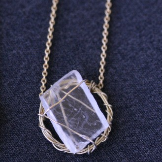 Sara Jewellery: Wrapped quartz necklace http://sarajewellery.no/?product=wrapped-quartz-necklace