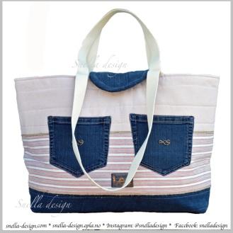 Snella Design: Stor strand-/badeveske med gummiert innside http://www.snella-design.com/418874568/product/1485246/stor-strand-badeveske-med-gummiert-innside?catid=426096