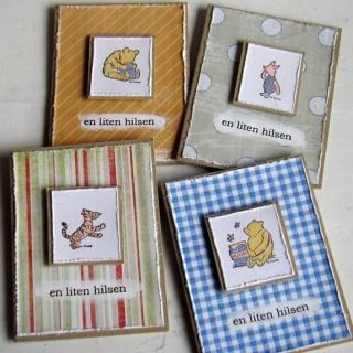 Cirkeline Design Ole Brumm - 4 små kort http://epla.no/handlaget/produkter/808500/