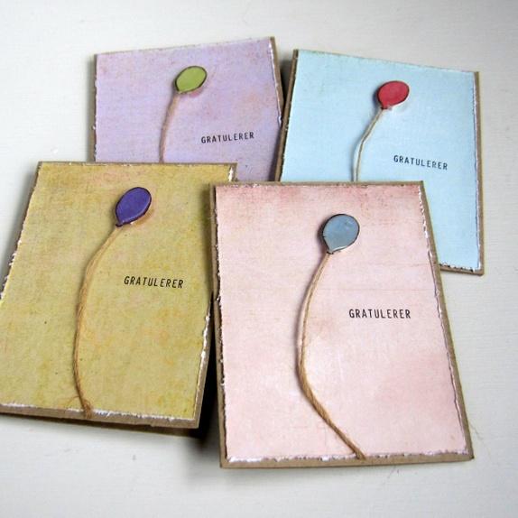 Cirkeline Design: Ballong - 4 småkort http://epla.no/handlaget/produkter/809418/