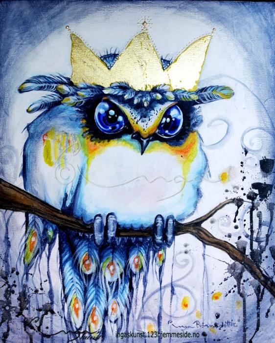 """Ingas Kunst """"En konge"""" Original signert akryl og bladgull på lerret 40x50 cm i blindramme http://ingaskunst.123hjemmeside.no/418711162/product/1528359/en-konge?catid=422083"""
