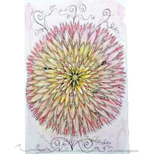 """Ingas skunst : """"doodle blomst"""" original https://epla.no/handlaget/produkter/815657/"""