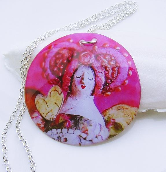 Kimmelinessmykker Diva Håndlaget Epoxysmykke http://epla.no/handlaget/produkter/814332/