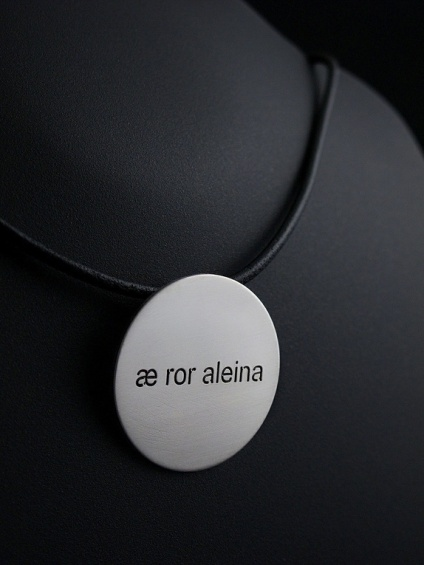 "Zylla Smykker: ""Æ ror aleina"" II (925) http://epla.no/handlaget/produkter/817128/"