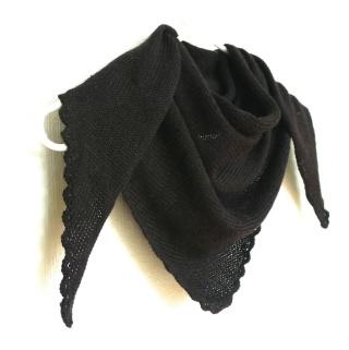 """Amy`s Knitting *Sjal i Alpakka & Silke med """"blondekant"""" https://www.epla.no/handlaget/produkter/819232/"""