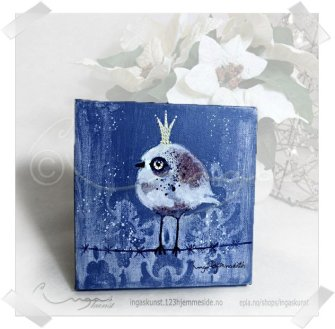 "IngasKunst: ""liten fugl"" original https://www.epla.no/handlaget/produkter/826309/"