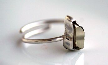 Sara Jewellery: PYRITE SILVER RING http://sarajewelleryanddesign.tictail.com/product/pyrite-silver-ring