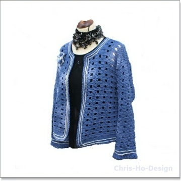 Chris-Ho-Design: Januarsalg! Heklet jakke (Str.38 - 44) https://www.epla.no/handlaget/produkter/782572/