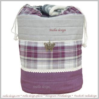 Den orginale strikkevesken med trådførende maljer finner du hos Snella Design http://www.snella-design.com/