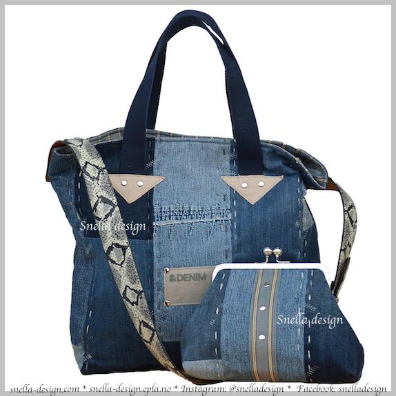 Snella Design: Skulderveske med matchende samlepung http://www.snella-design.com/418874568/product/1834476/skulderveske-med-matchende-samlepung?catid=425820