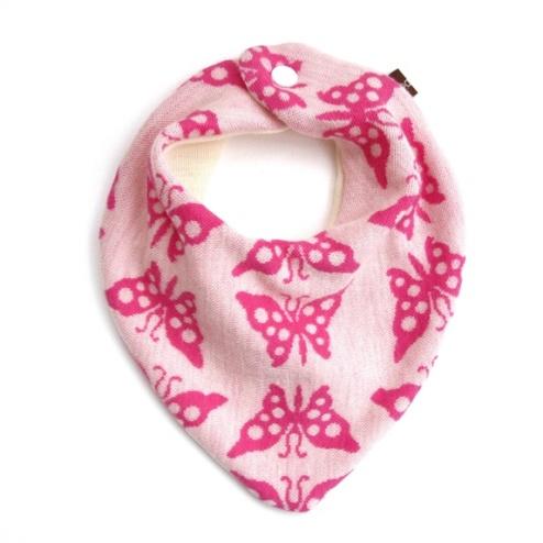 Blåbærbarn: Siklesmekke merinoull rosa sommerfugler https://www.epla.no/handlaget/produkter/833751/