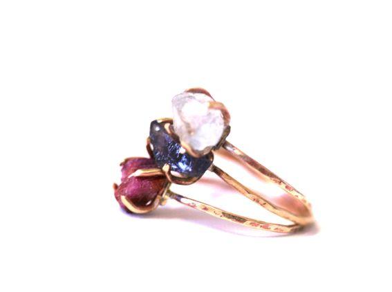SARA JEWELLERY & DESIGN: RAW CRYSTAL RING http://sarajewelleryanddesign.tictail.com/product/raw-crystal-ring