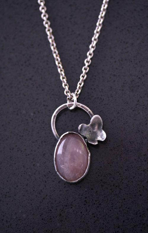 SARA JEWELLERY OG DESIGN: BUTTERFLY ROSE QUARTZ NECKLACE http://sarajewelleryanddesign.tictail.com/product/butterfly-rose-quartz-necklace