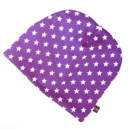 BLÅBÆRBARN: Lue str 52/54 lilla med stjerner https://www.epla.no/handlaget/produkter/843826/