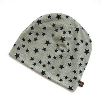 BLÅBÆRBARN: Lue str 52/54 grå med stjerner https://www.epla.no/handlaget/produkter/845134/