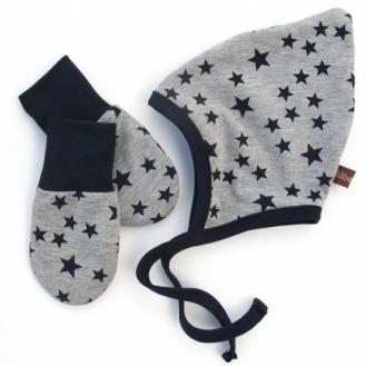 BLÅBÆRBARN: Barselsett grå med stjerner https://www.epla.no/handlaget/produkter/848048/