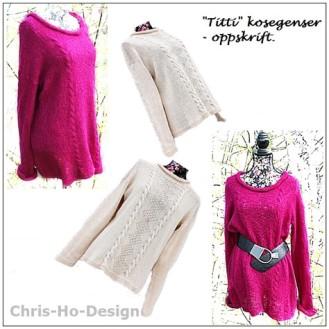 """CHRIS-HO-DESIGN: """"Titti"""" kosegenser - Oppskrift http://chris-ho.com/titti-kosegenser.html"""