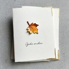 CIRKELINEDESIGN Høstløv - 4 små kort https://www.epla.no/handlaget/produkter/860953/