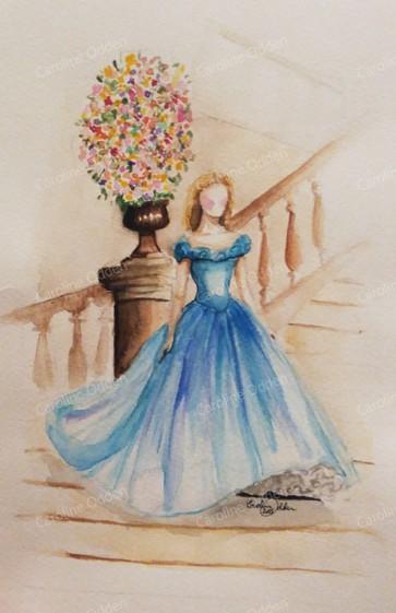 BY ODDEN Cinderella A4 print av original akvarell. http://byodden.com/cinderella.html