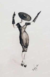 BY ODDEN Black and White A4 print av original akvarell. http://byodden.com/black-and-white.html