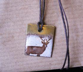 SVERMER RUSTIC ENAMEL DEER NECKLACE http://svermer.tictail.com/product/rustic-enamel-deer-necklace