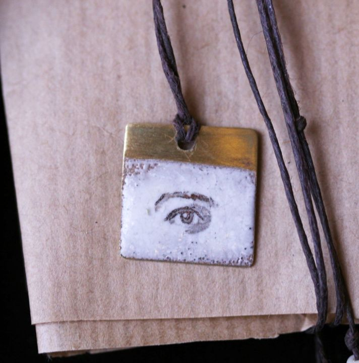"SVERMER ""CREATIVE EYE"" RUSTIC ENAMEL NECKLACE http://svermer.tictail.com/product/creative-eye-rustic-enamel-necklace"