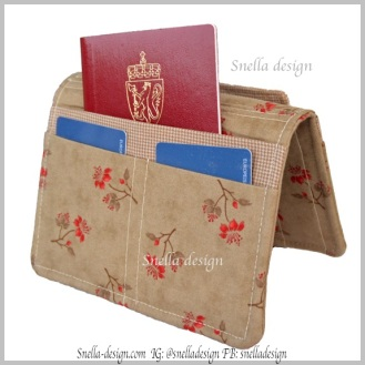 Link til produktet: http://www.snella-design.com/418874568/product/3747886/reisemappe-til-pass-helse-og-forsikringskort?catid=425820 Butikk: Snella Design